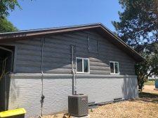 Weathered Gray Steel Log Siding