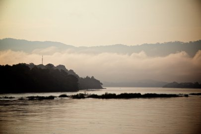 Morning mist on the Mekong