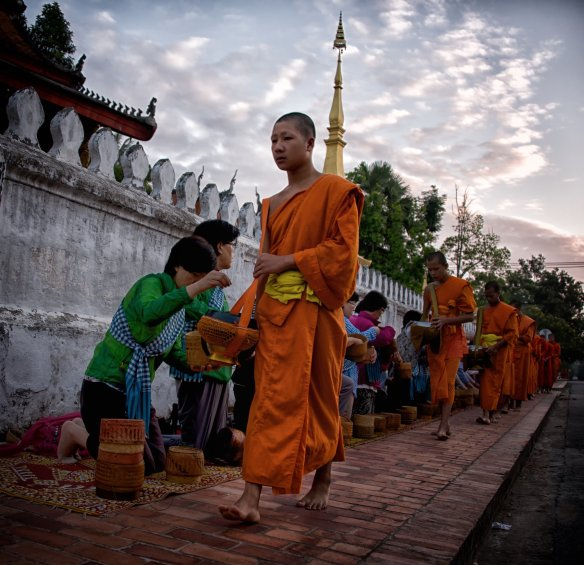 Monks in Luangprabang, Laos