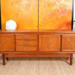 Vintage Teak Sideboard Cocktail Cabinet Mcm 1970s Long Low Truman Porter