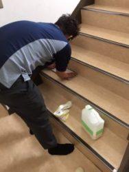 階段清掃3