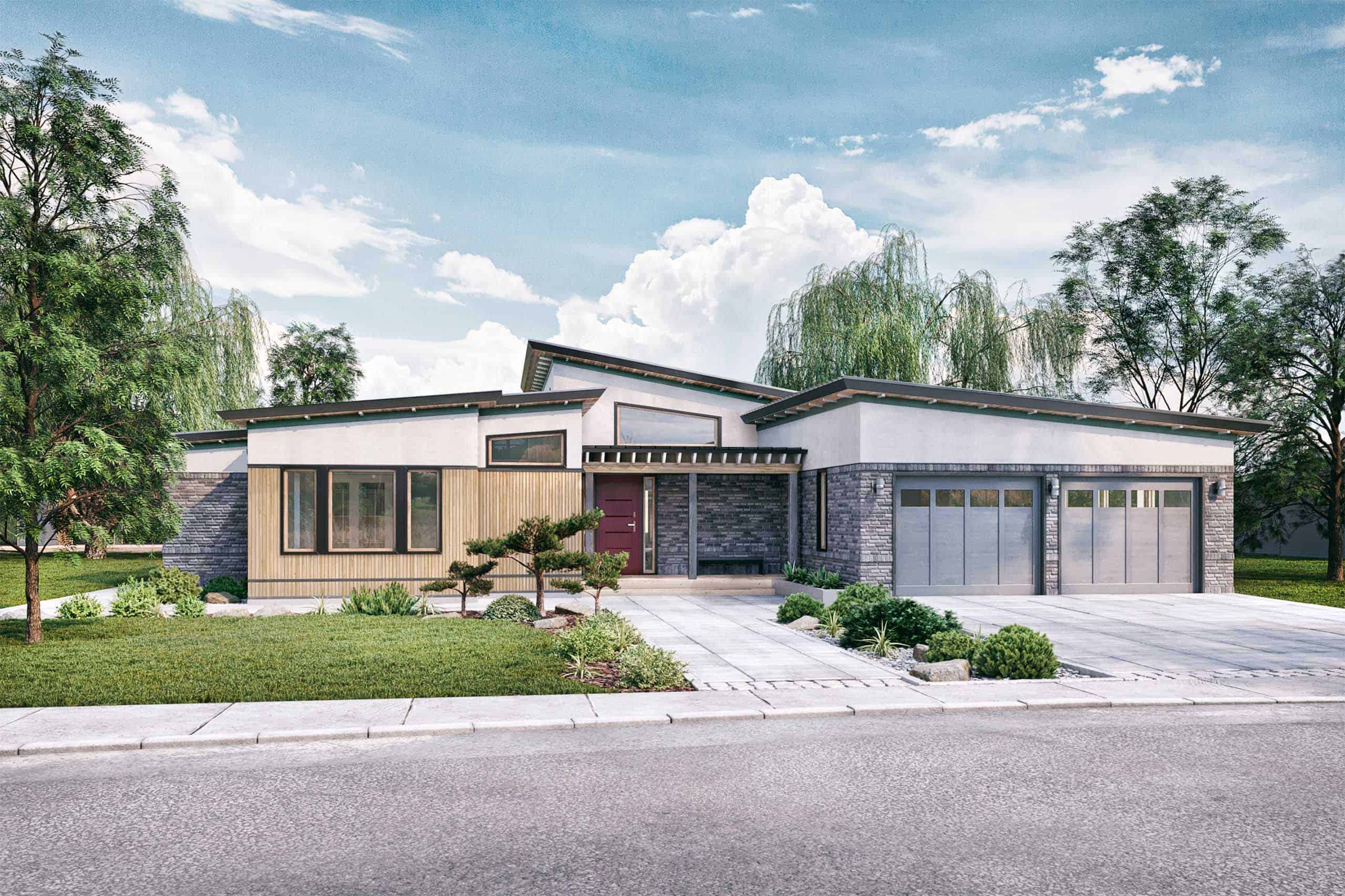 Mid Century Modern House Plans Created By The Architects