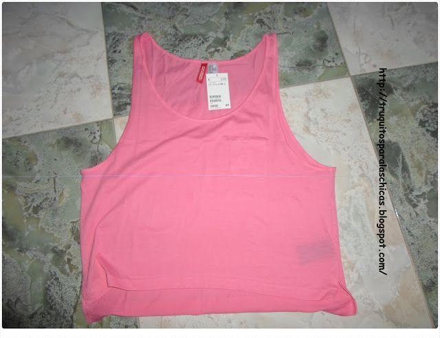 Camiseta rosa fluor