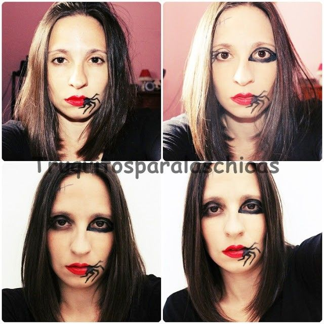 maquillaje labios halloween araña