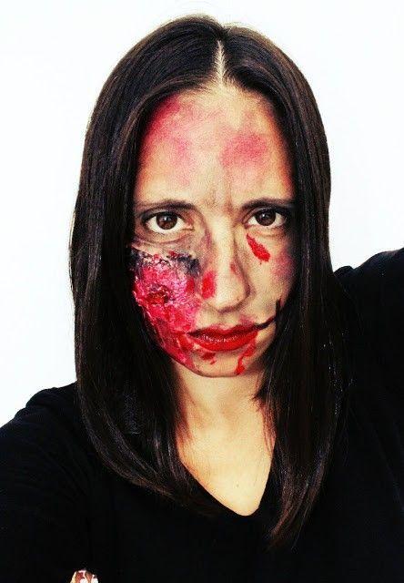 maquillaje halloween heridas sin latex