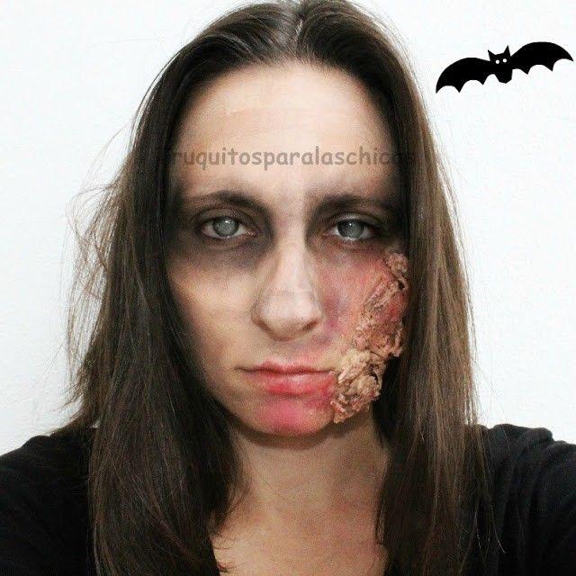 maquillaje quemaduras halloween