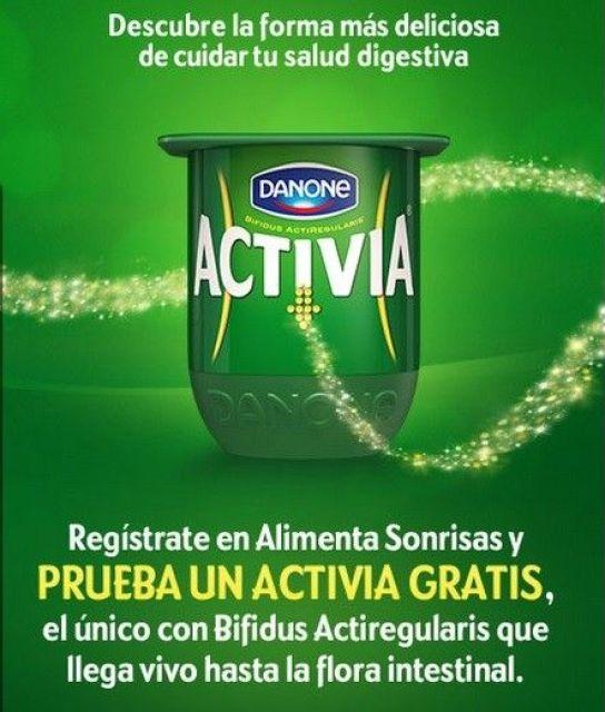 muestras gratis Yogurt Activia