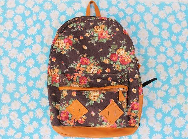 mochila de flores de new chic