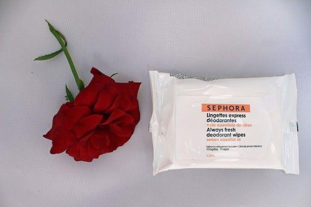 Toallitas desodorantes exprés de Sephora