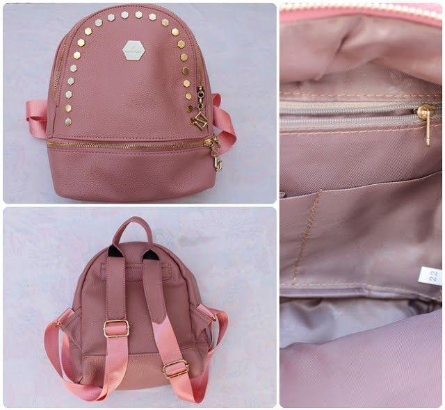 zaful mochila rosa