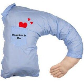 almohada sustituta de novio