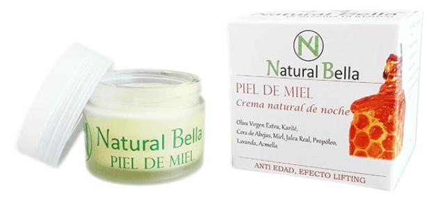 """Crema natural de noche """"Piel de miel"""" natural bella"""