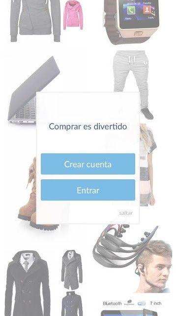 wish app movil para comprar chollos de ropa y belleza