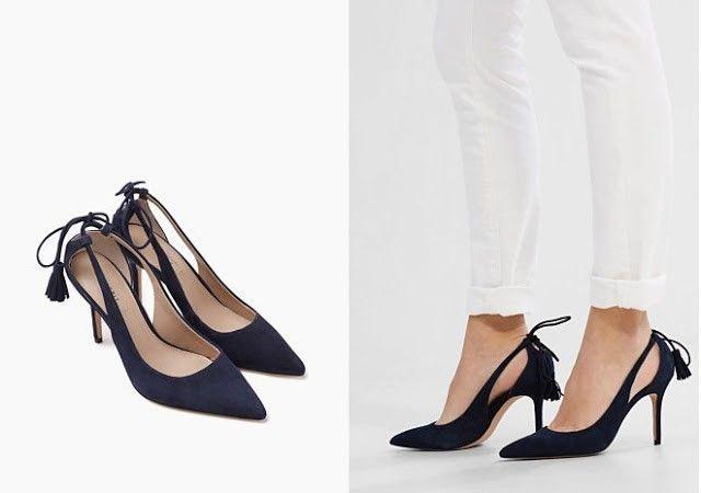 zapatos de tacon negros con cordon