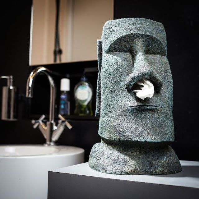 distribuidor pañuelos estatua Moai