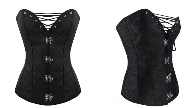 corset color negro pin up