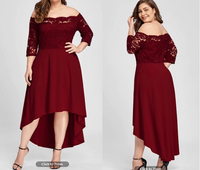 vestido rojo tallas grandes dresslily