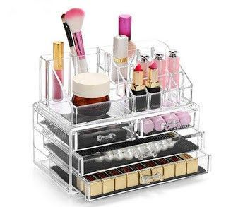 organizador maquillaje acrílico