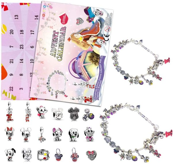 calendario adviento pulsera plata disney