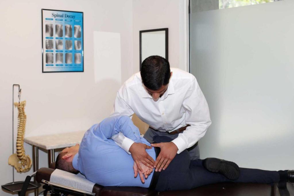 supreet shah chiropractic adjustment