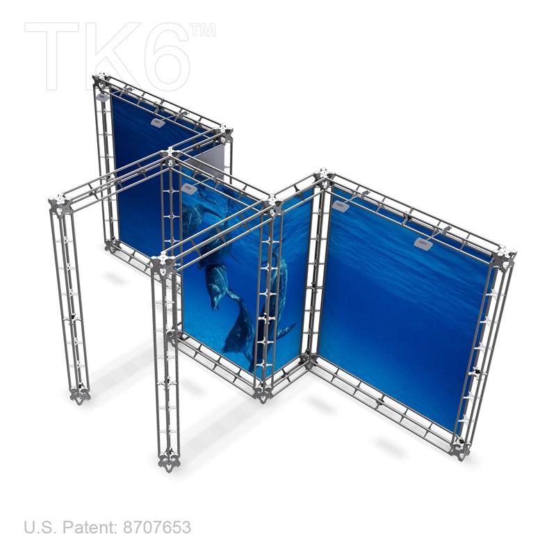ube 10ft x 20ft aluminum truss display lights tops graphic kit
