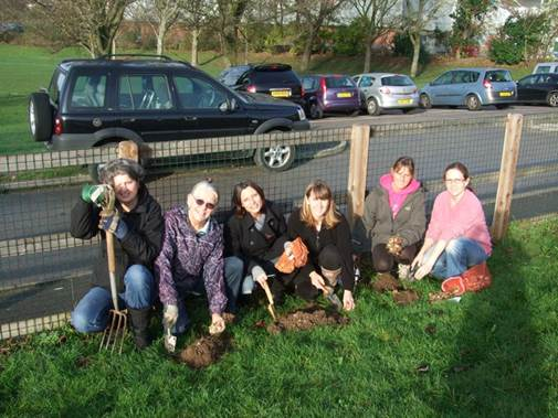 H.A.P.P.I Group Bulb Planting Team