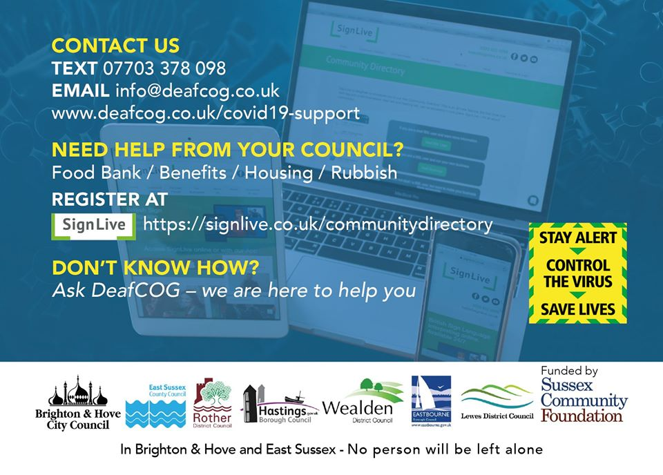 Covid Deaf response Brighton Hove