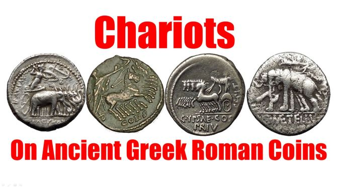 CHARIOTS as shown on Authentic Ancient Greek & Roman Coins for Sale on eBay