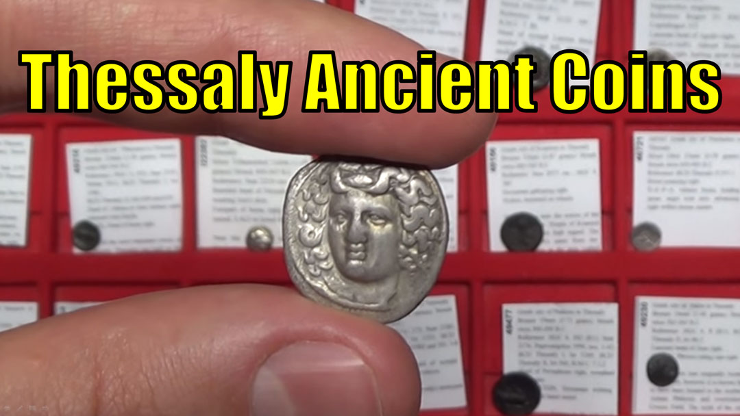 Greek (450 Bc-100 Ad) Augustus 27bc Thessaly Koinon Athena Authentic Ancient Roman Greek Coin Rare Coins: Ancient