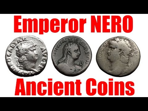 Coins of NERO the Infamous Ancient Roman Emperor