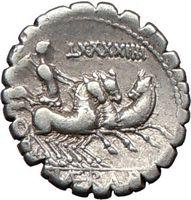 Triga Three Horse Chariot Ancient Roman Coin