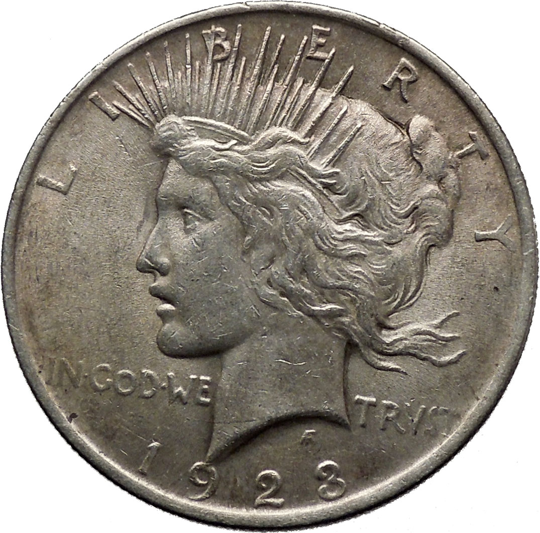 Peace Silver Dollar United States Of America Large