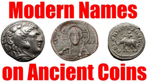Modern Names of People on Historical Numismatic Ancient Greek Roman Byzantine and Medieval Coins