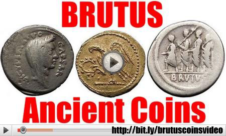 Brutus Assassin of Julius Caesar Ancient Roman Coin Collection & Guide FOR sALE
