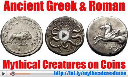 Creatures of Mythology on Ancient Greek and Roman Coins