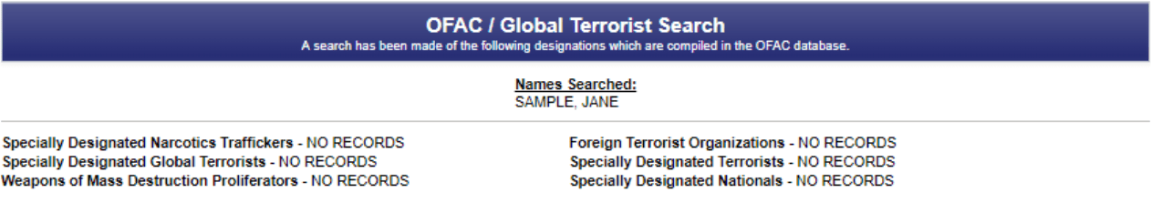 Our employment background checks go beyond just a criminal record search including things like a global terrorist search.