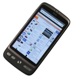 HTC Desire browser