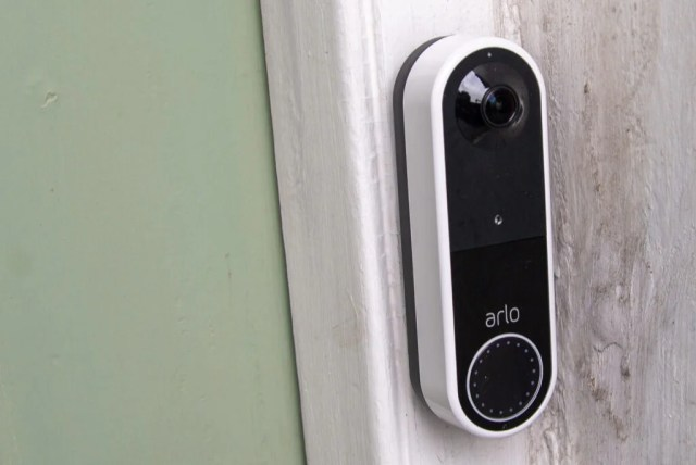 Arlo Essential Video Doorbell Wire-Free side view