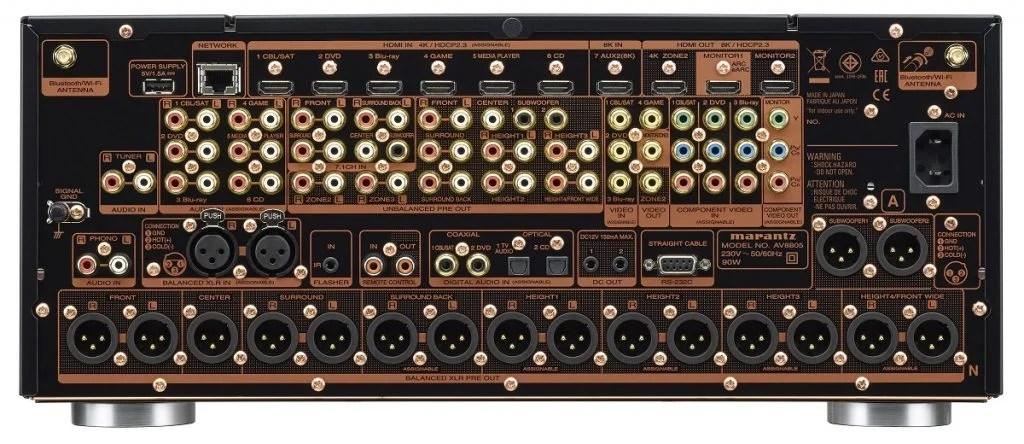 Marantz AV8805A Rear Connection