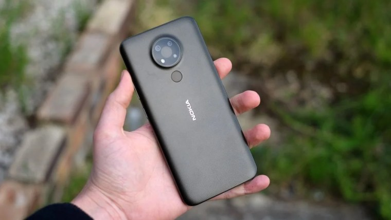 Back of the Nokia 3.4 in black
