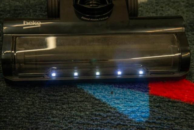 Beko PowerClean Cordless Vacuum Cleaner VRT94929VI LED lights on floor head