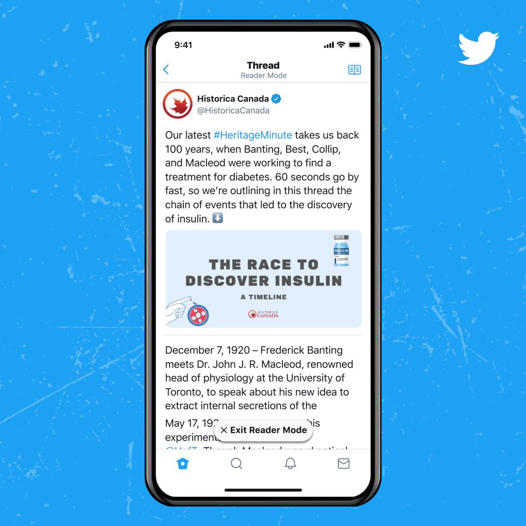 Twitter Blue Reader Mode