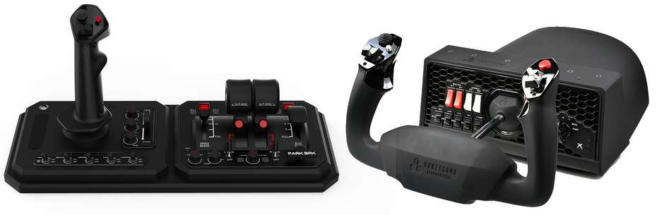 Honeycomb Alpha Flight Controls XPC gives users the option to customize the handle with 13 different buttons and switches that can be programmed.