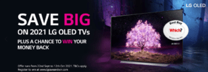 Save up to £1000 on LG OLED TV's