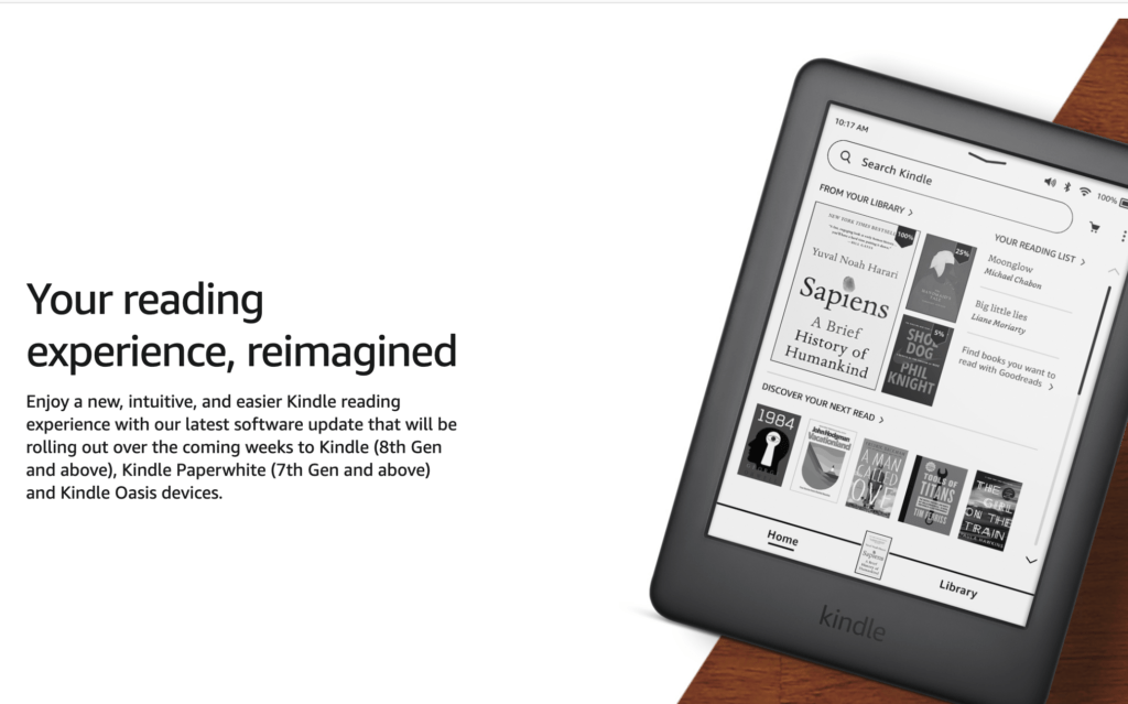 Kindle software update