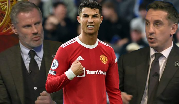 Jamie Carragher sensationally snubs Ronaldo in Liverpool and Man United combined XI