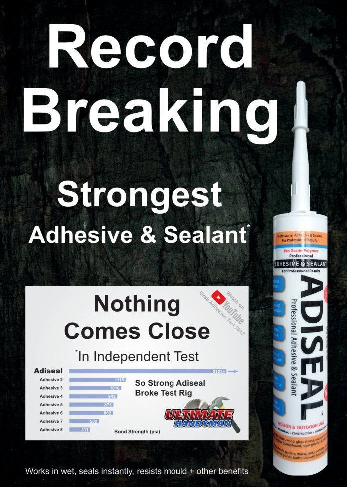 Record Breaking Strongest Adhesive & Sealant