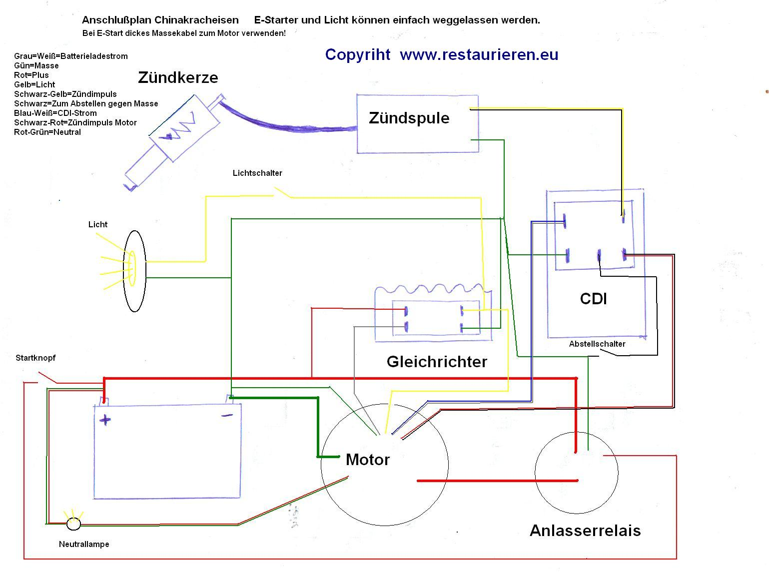 Magnificent Cb200 Wiring Diagram In Color Images - Electrical System ...