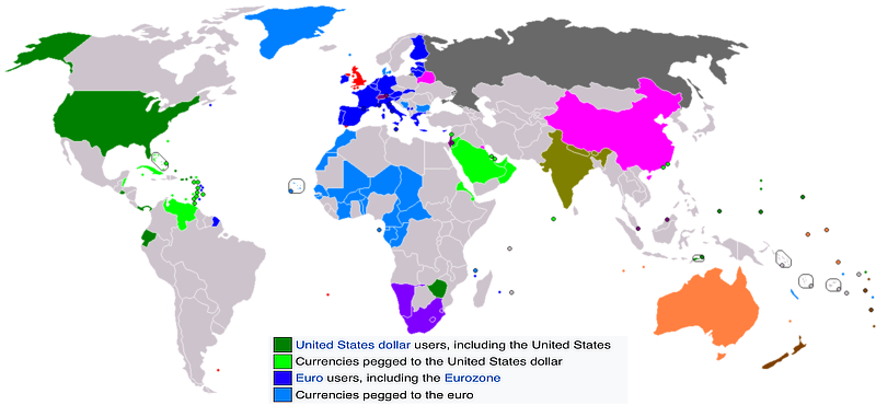 Dollarization and eurozation as of 2014