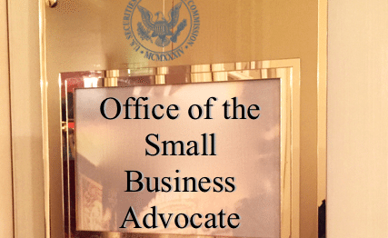 SEC office of small business advocate